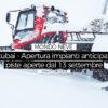 Apertura impianti anticipata a Stubai, si scia dal 13 settembre con 50cm di Fresca