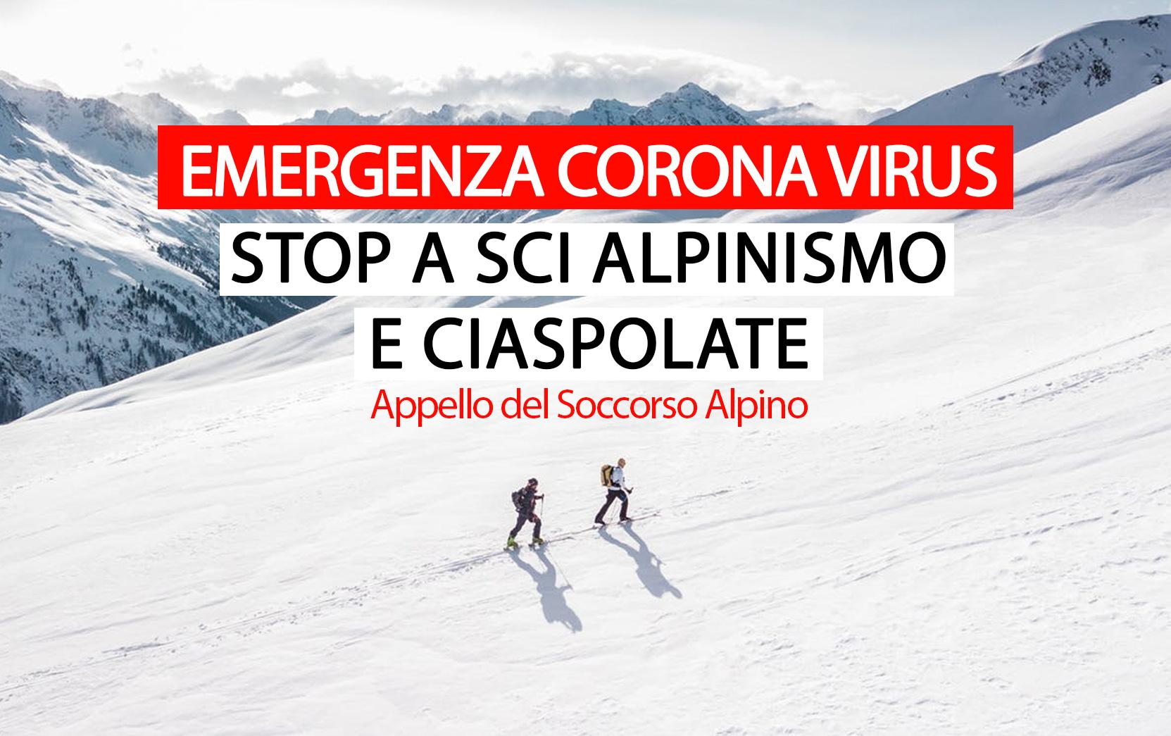 Coronavirus: No a Scialpinismo e Ciaspolate, appello del Soccorso Alpino